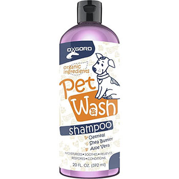 OxGord Organic Oatmeal Dog Shampoo & Conditioner-100{391d42f6f9f244eb3b0ebb7153e217a50debc16a3500bdee99fb7a9331c18b58} Natural-Best Dog Shampoos