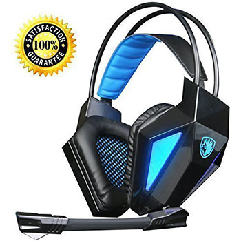 N SADES Surround USB Gaming Headset Headphone with a Microphone-Best Pc Gaming Headsets
