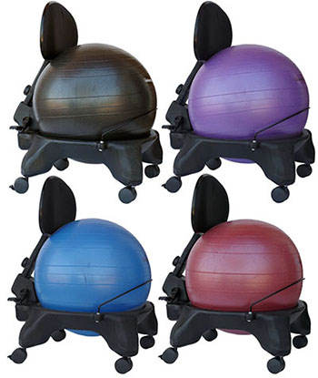 ISOKINETICS INC.ADJUSTABLE EXERCISE BALL CHAIR