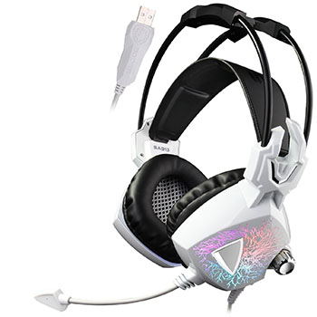 Sades Gaming Headset Wired with Over Ear Headphones Microphone Volume Multi-Colors