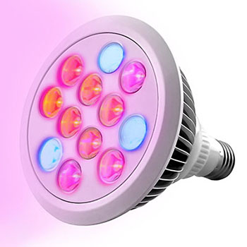 Premium LED Grow Light Bulb, High Efficient Hydroponic Grow Light for the Plant, Indoor Garden, Greenhouse (12W)