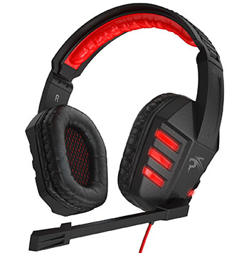 Sentey USB Gaming Headset of Virtual Surround Sound with Mic, Adjustable Headband, Inline Volume Control a RED Lights