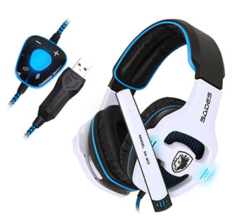 Sades Stereo Pro USB Gaming Headband Headphone