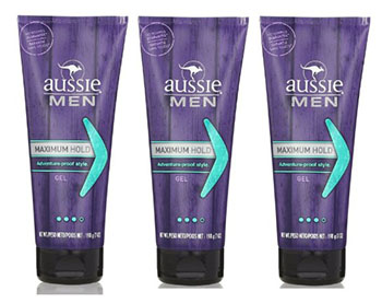Aussie Men Max Hold Gel For Men 7 Oz (Pack of 3)