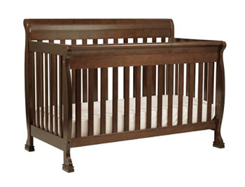 DaVinci Kalani 4-in-1 Convertible Crib Bed with Toddler Rail-Espresso