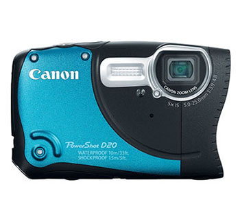 CANON POWERSHOT D20 WATERPROOF CAMERA