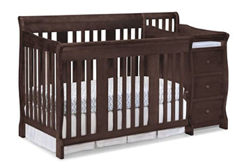 Stork Craft Portofino 4-in-1 Convertible Crib and Changer-Best Baby Cribs