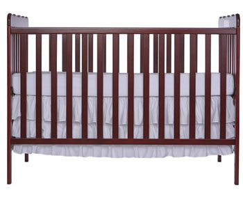 Dream On Me-Classic 2 in 1 Convertible Crib (Cherry)