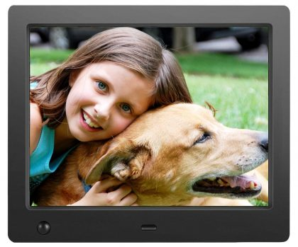 Slideshow Picture Frame Remote Control Included,White Instantly Sharing Memories 1280x 800 Resolution LLC-POWER 12 Digital Photo Frame with LED Display Photo//Music//Video Support