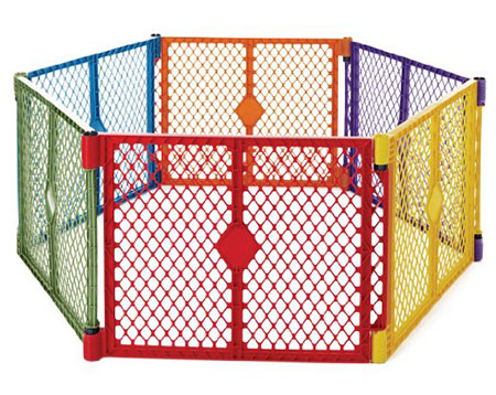 North States Super yard 6 Panel Play yard- Color play