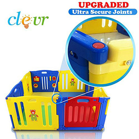 Clevr Baby Safety 8 Panel Playpen