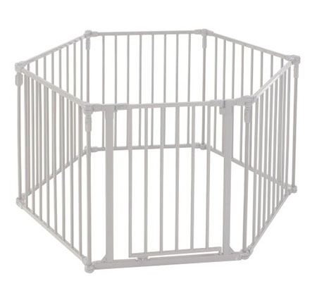 The North States 3-in-1 Super yard with a metal gate