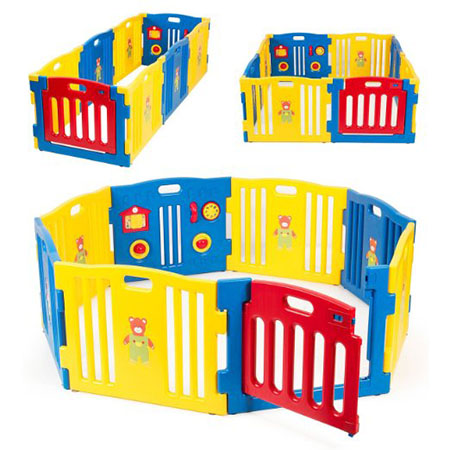 Kid zone© 8 Panel Baby Playpen