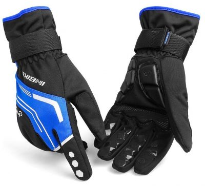 LAMEDA Men's Full Finger Cycling Gloves with Gel Pad for Winter Cold Weather