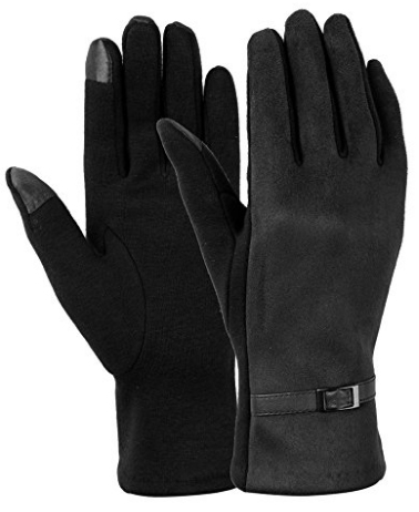 Dimore Womens Touch Screen Phone Fleece Windproof Gloves Winter