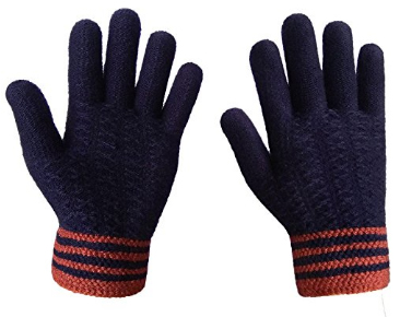 LETHMIK Men's Thick Unique Winter Knit Gloves
