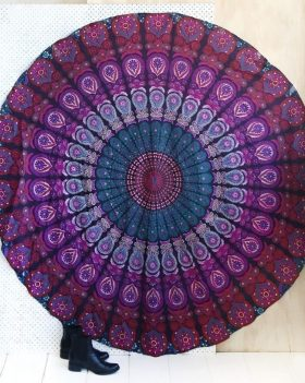 Purple Beach Large Yoga Mats