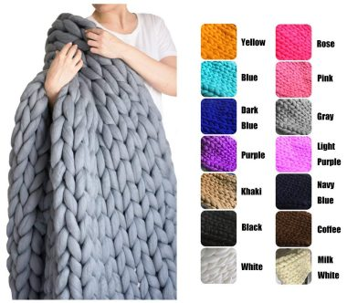EASTSURE Chunky Knit Blankets