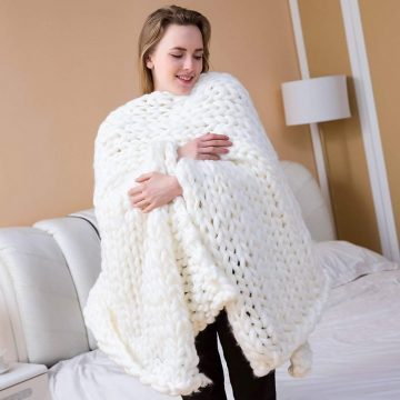 welltree Chunky Knit Blankets