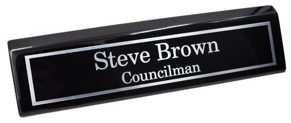 Holmes Stamp & Sign Desk Name Plates