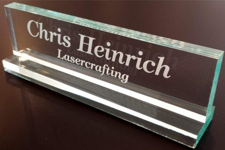 Lasercrafting Desk Name Plates