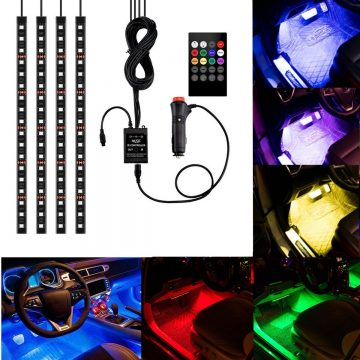 Multicolor LED Lights for Car Interior