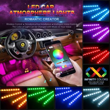 wsiiroon LED Lights for Car Interior